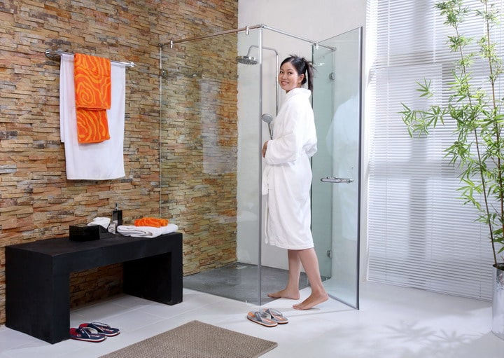 Vách ngăn kính phòng tắm và phòng ngủ, vách ngăn kính, vach ngan kinh,